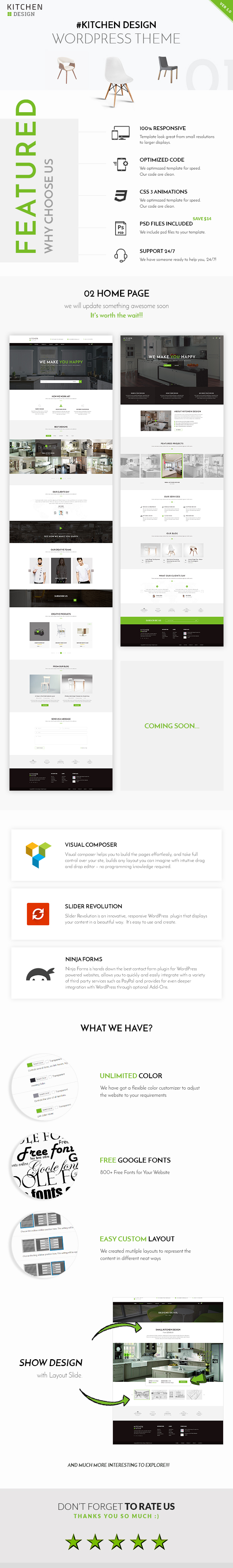 Kitchen – Design Responsive WordPress Theme – Vic Themes